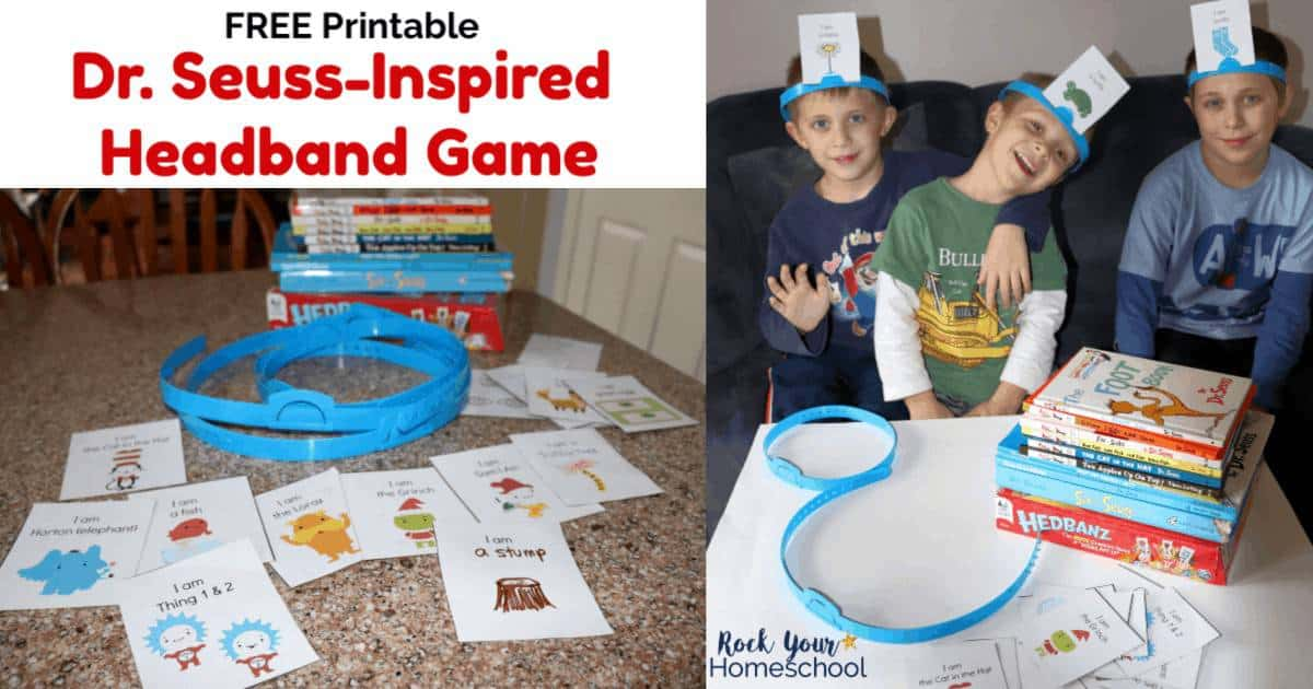 Enjoy an easy activity with kids using this free printable Dr. Seuss-Inspired Headband Game.
