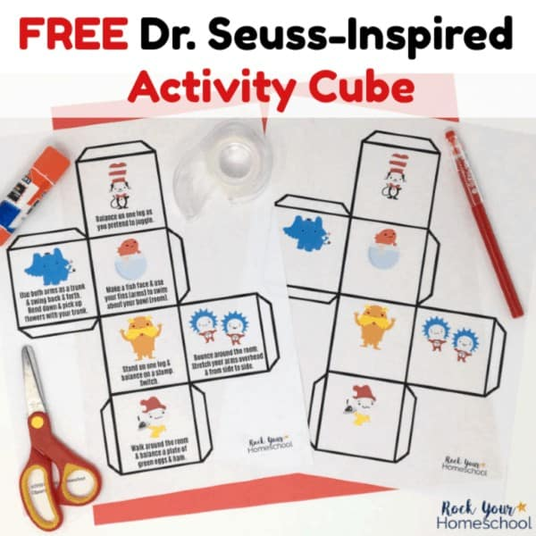 This free printable Dr. Seuss-Inspired Activity Cube is a wonderful & easy way to get your kids up & moving.