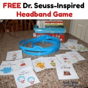 Enjoy this free printable Dr. Seuss-Inspired Headband Game for interactive fun with kids.