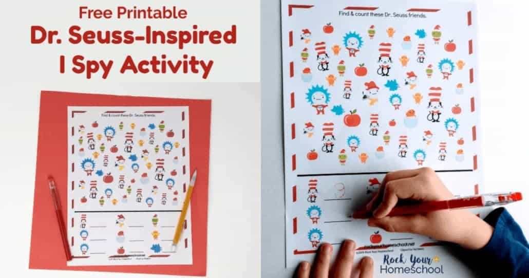 This free printable Dr. Seuss-Inspired I Spy Activity is an awesome way to add easy fun to your day with kids.