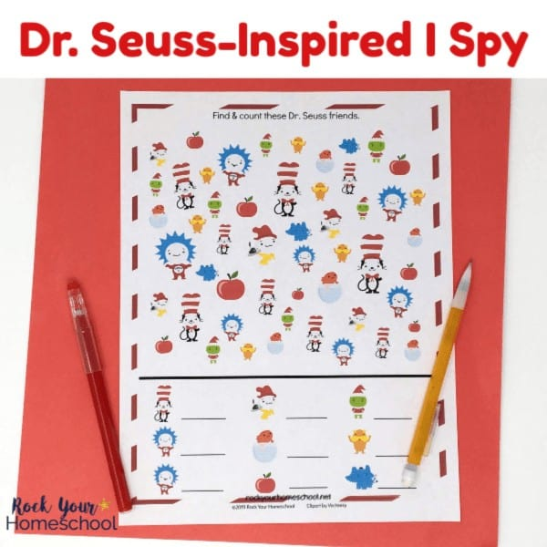 This free printable Dr. Seuss-Inspired I Spy Activity is an easy way to have fun with kids.