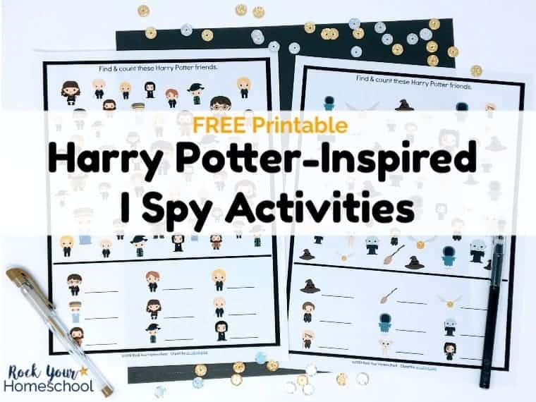 2 Free Harry Potter-Inspired I Spy Activities