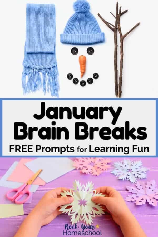 Free January Brain Breaks for Homeschool Fun