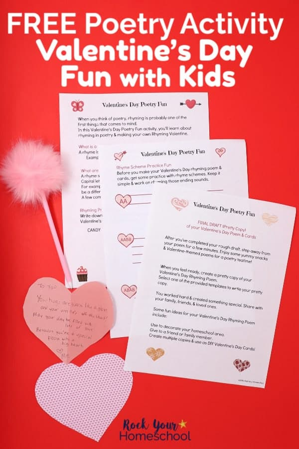 Easy Poetry Activity For Valentine S Day Fun With Kids Rock Your Homeschool
