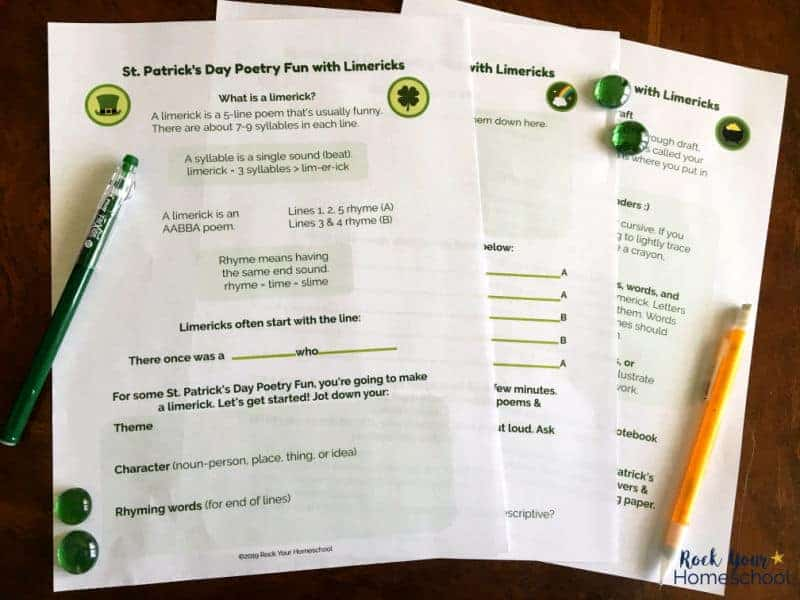 This St. Patrick's Day Poetry Fun pack is awesome for learning about & creating limericks with kids.