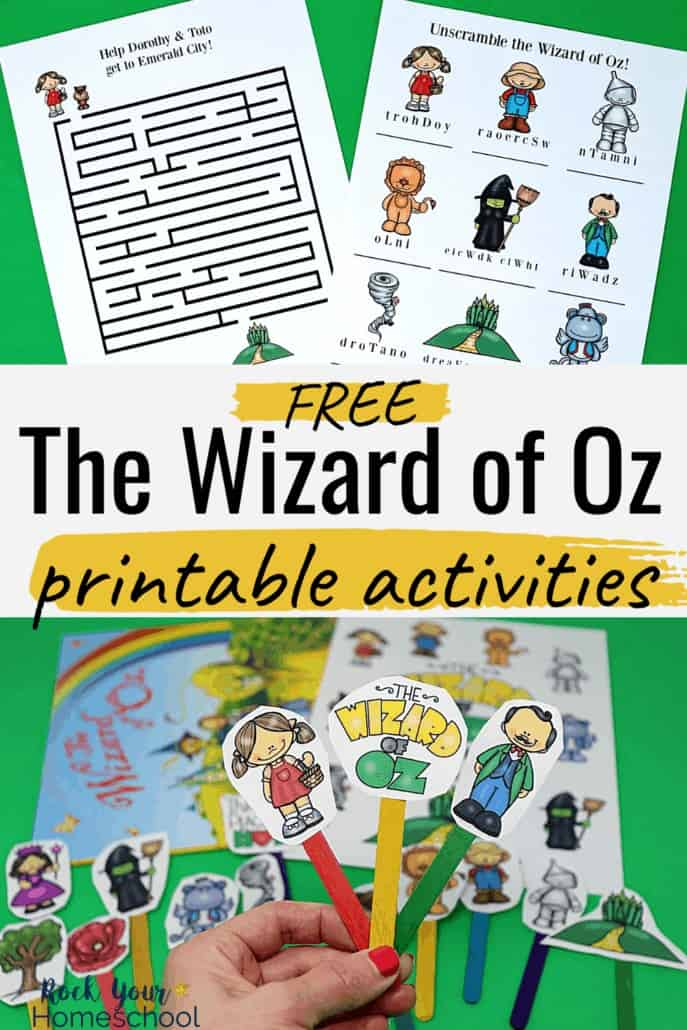 Free Printable Pack of Wizard of Oz Learning Fun