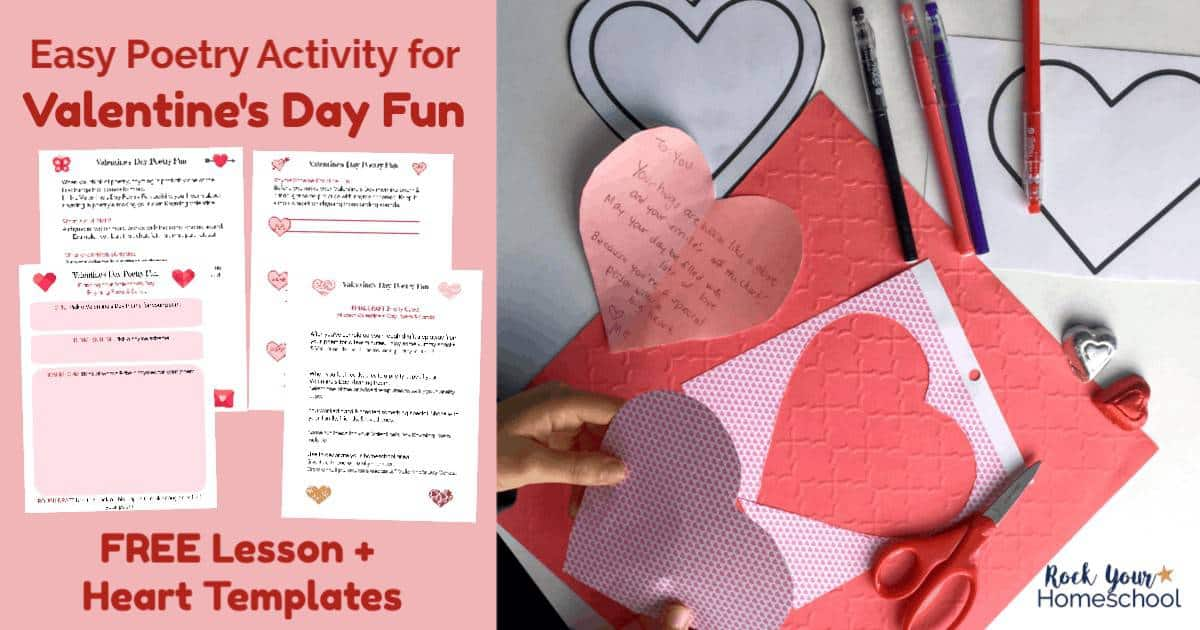 Enjoy Valentine's Day fun with your kids using this easy poetry activity with free printable kit.
