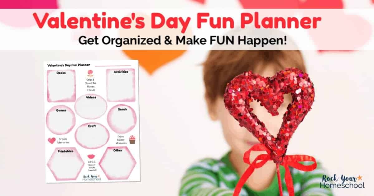 Get organized & prepared for holiday fun with kids using this free printable Valentine's Day Fun Planner. Includes curated list of ways to enjoy the special day.