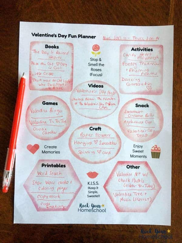 This free printable Valentine's Day Fun Planner will help you get organized & enjoy activities with your kids.