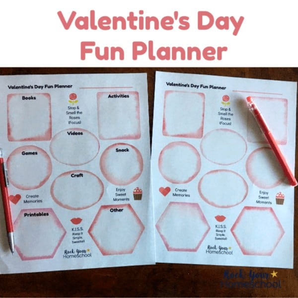 Use this free printable Valentine's Day Fun Planner to enjoy a special celebration with your kids.