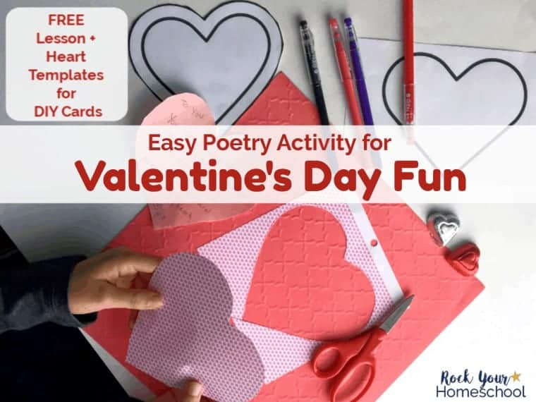 Enjoy this easy poetry activity with your kids for special Valentine's Day Fun.