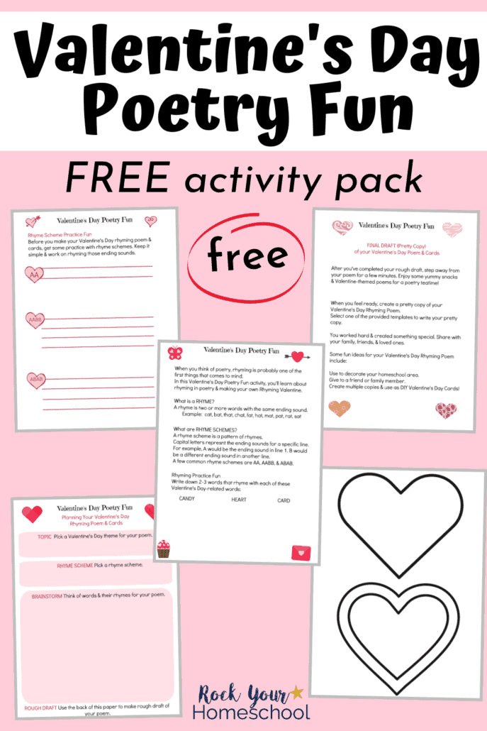 free Valentine's Day Poetry Fun activity pack for creative holiday fun with your kids