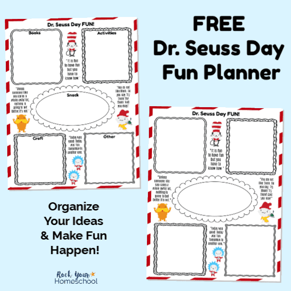 Get this free Dr. Seuss Day Fun Planner to help you organize your ideas & enjoy an awesome celebration.