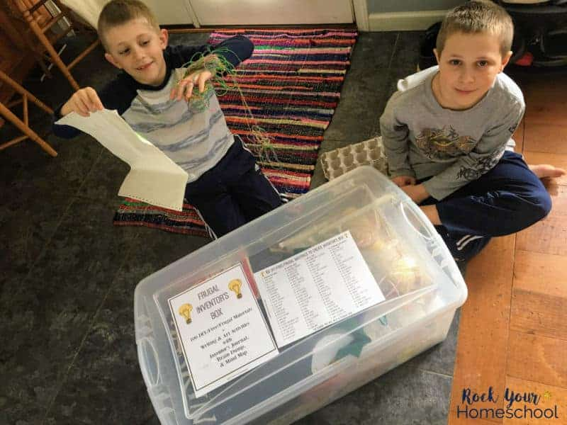 This inventor's box is an awesome way to boost creativity in your kids & provide wonderful opportunities to keep your kids busy without screens!