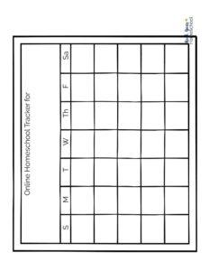 thumbnail of Online Homeschool Tracker sheet