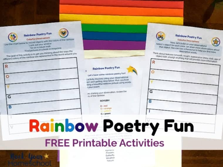 A Colorful Activity to Enjoy Rainbow Poetry Fun for Kids