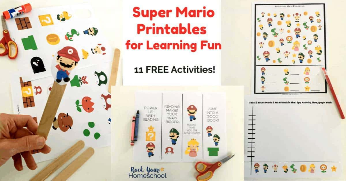 Free Super Mario Printables For Learning Fun With Kids - Rock Your  Homeschool