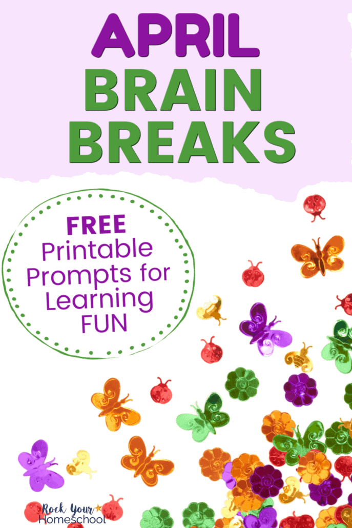 Variety of colorful Spring confetti & sequins to feature the different ways your kids can enjoy April brain breaks for learning fun