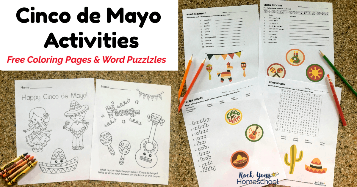 Fun Free Printables For Cinco De Mayo For Kids Rock Your Homeschool