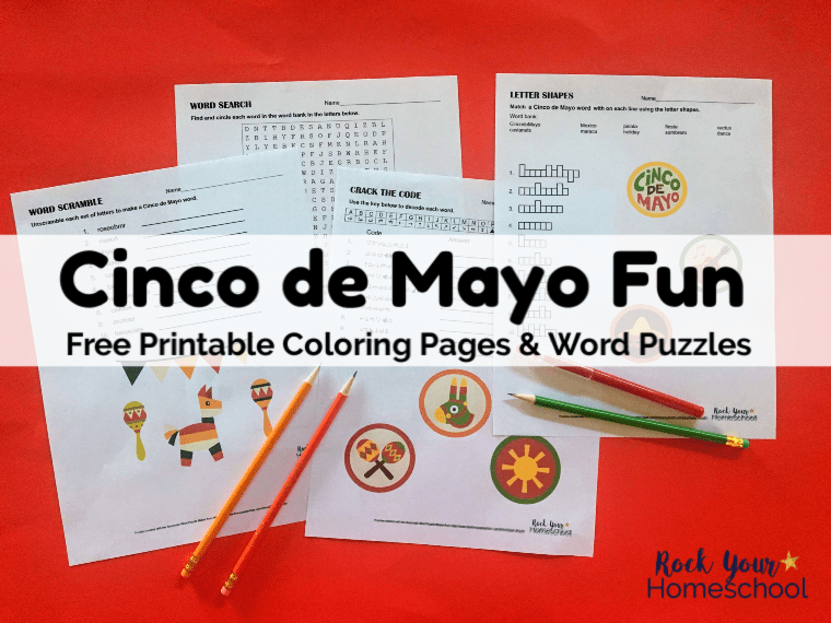 Fun & Free Printables for Cinco de Mayo for Kids - Rock Your