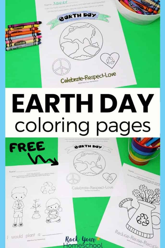 Free Earth Day Coloring Pages For An Excellent Celebration