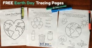 These free Earth Day Tracing Pages are awesome ways to celebrate the special day with your kids.