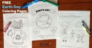 Enjoy these free Earth Day Colornig Pages with your kids for a special celebration.