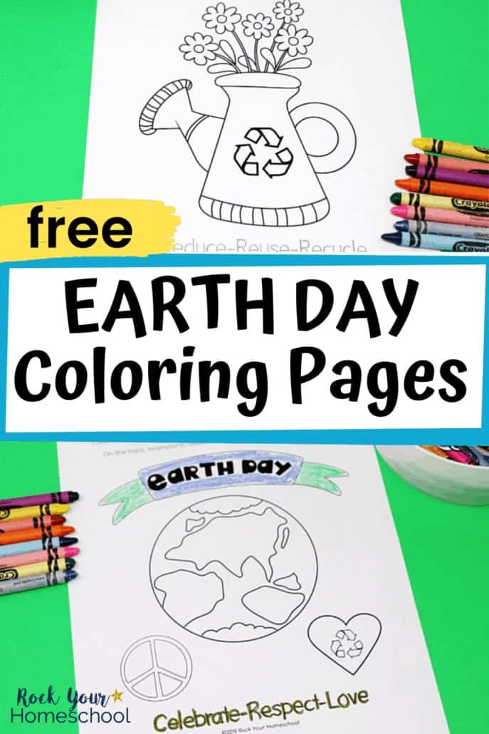 Earth Day coloring pages with crayons to feature excellent Earth Day fun your kids will have with these free coloring pages