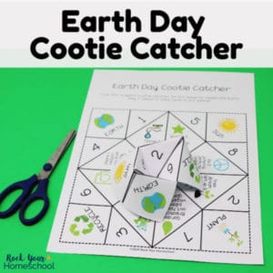 Enjoy awesome Earth Day fun with this free printable cootie catcher.