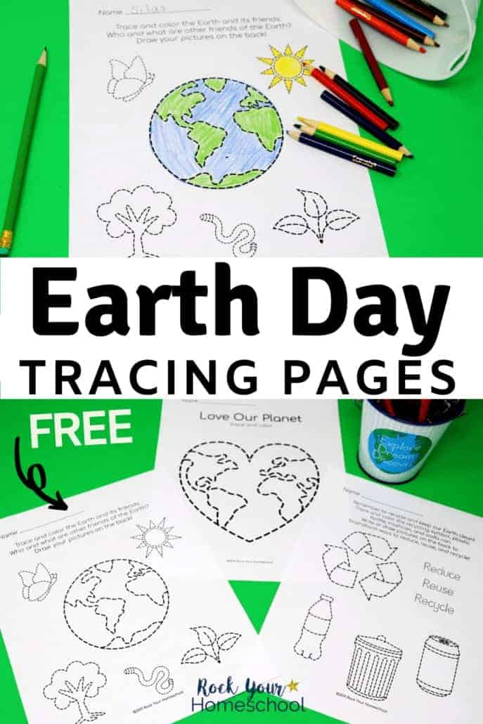 Earth Day Tracing Pages for Free & Fun Activities for Kids