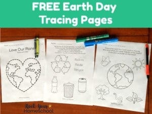 Enjoy easy & fun activities with kids using free Earth Day Tracing Pages! Great for classroom, homeschool, & family.