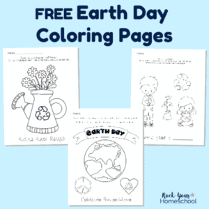 Get your free Earth Day Coloring Pages to enjoy with your kids.