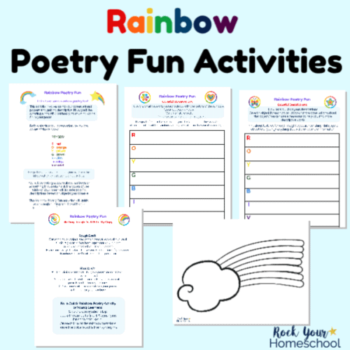 These free printable activities will help you enjoy Rainbow Poetry Fun for kids.