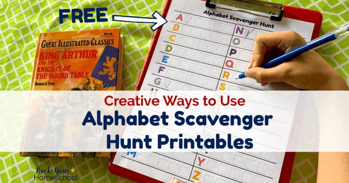 These free Alphabet Scavenger Hunt Printables are awesome ways to have creative learning fun for kids.
