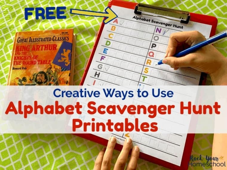 Creative Ways to Use Free Alphabet Scavenger Hunt Printables