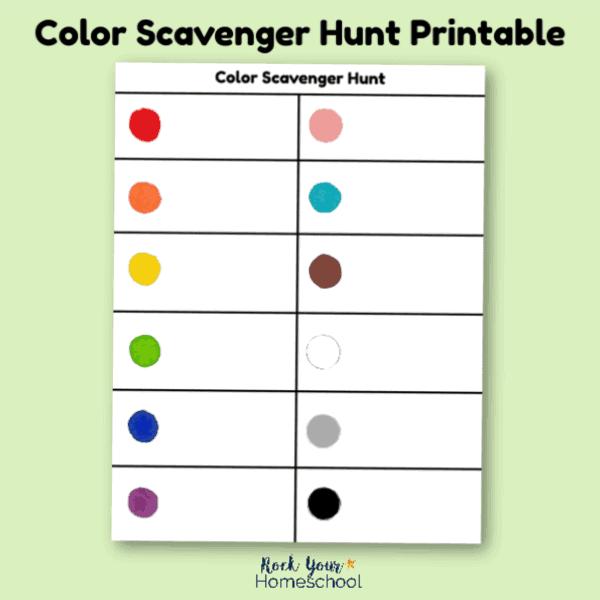 Color Scavenger Hunt Printable