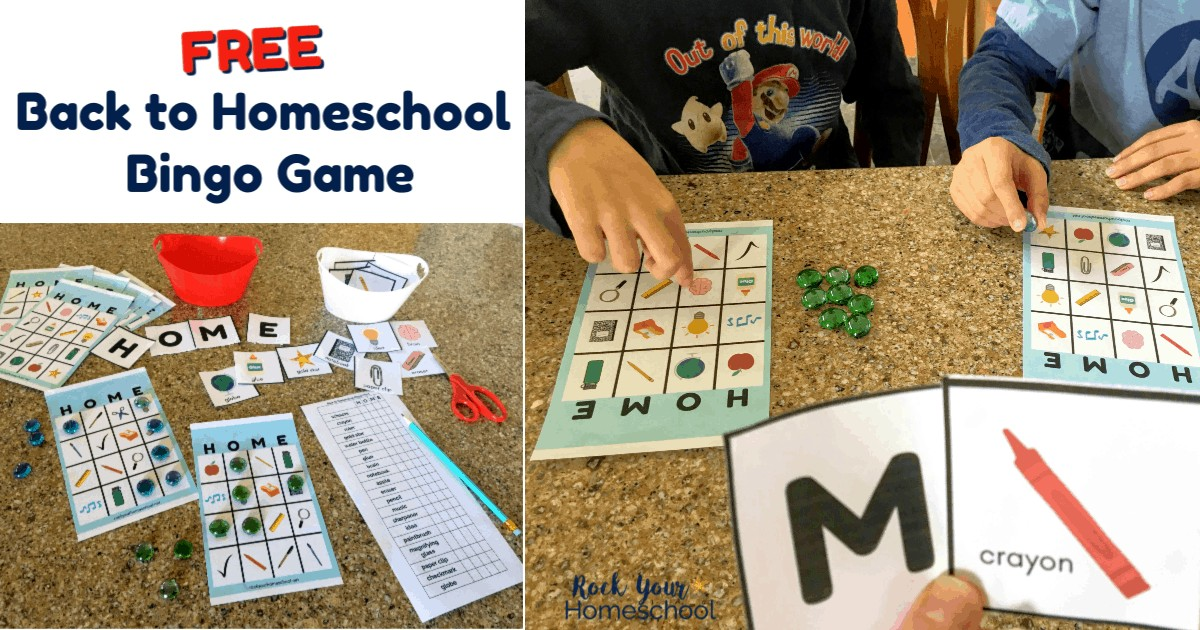 This free Back to Homeschool Game will help you enjoy first day fun with your kids.