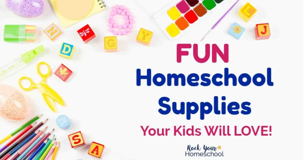 Fun homeschool supplies are awesome ways to motivate your kids & help your day flow.