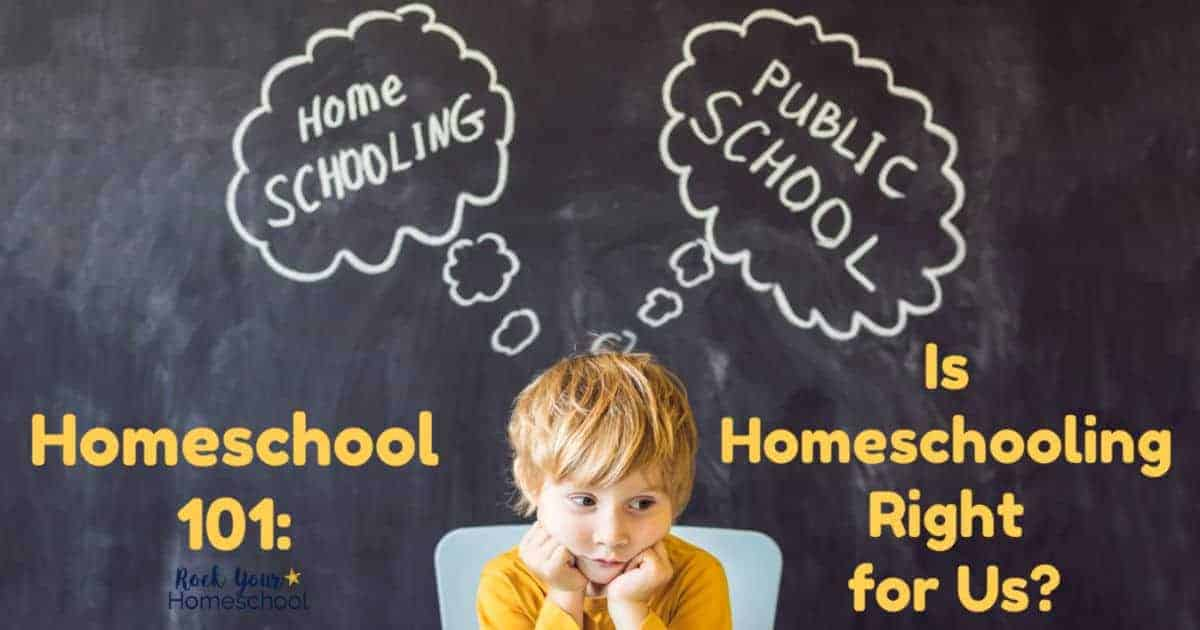 Not sure if homeschooling is right for your family? Learn more about homeschooling, the pros & cons, & what you need to do if you decide to start. All of this & more at Homeschool 101!