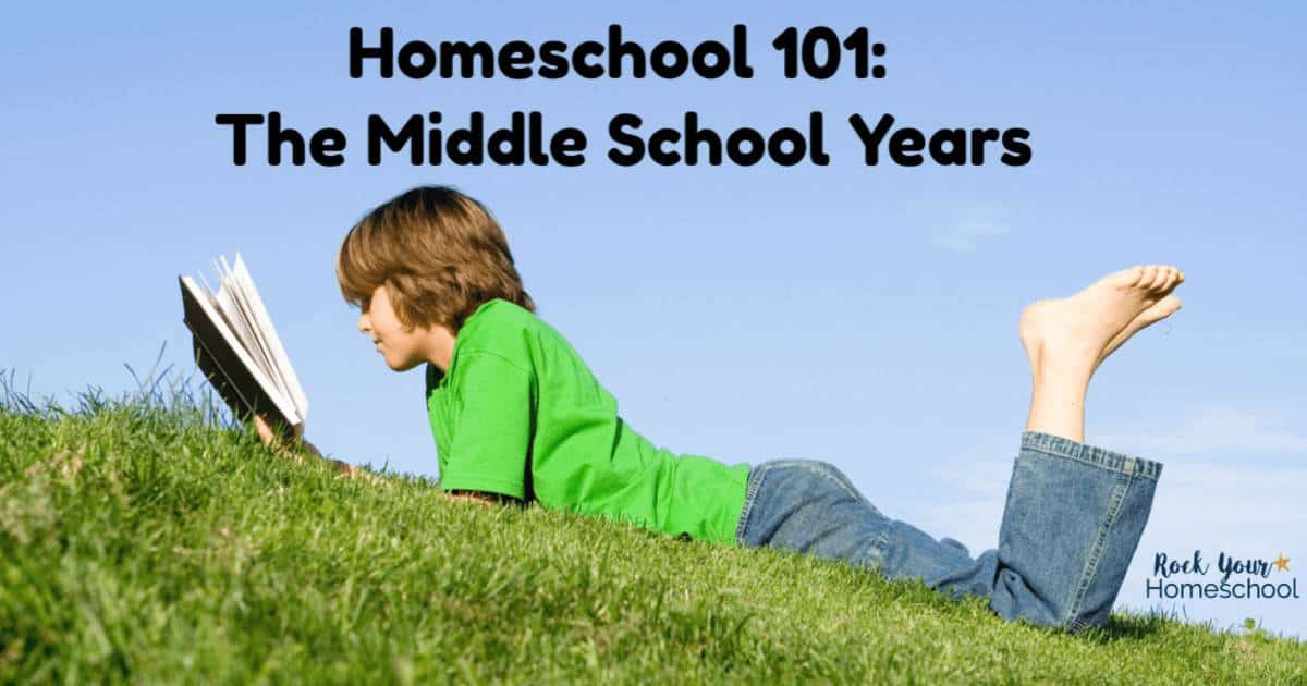 Nervous or have questions about homeschooling the middle school years? Get great tips & find resources to help you know that you CAN homeschool middle school!