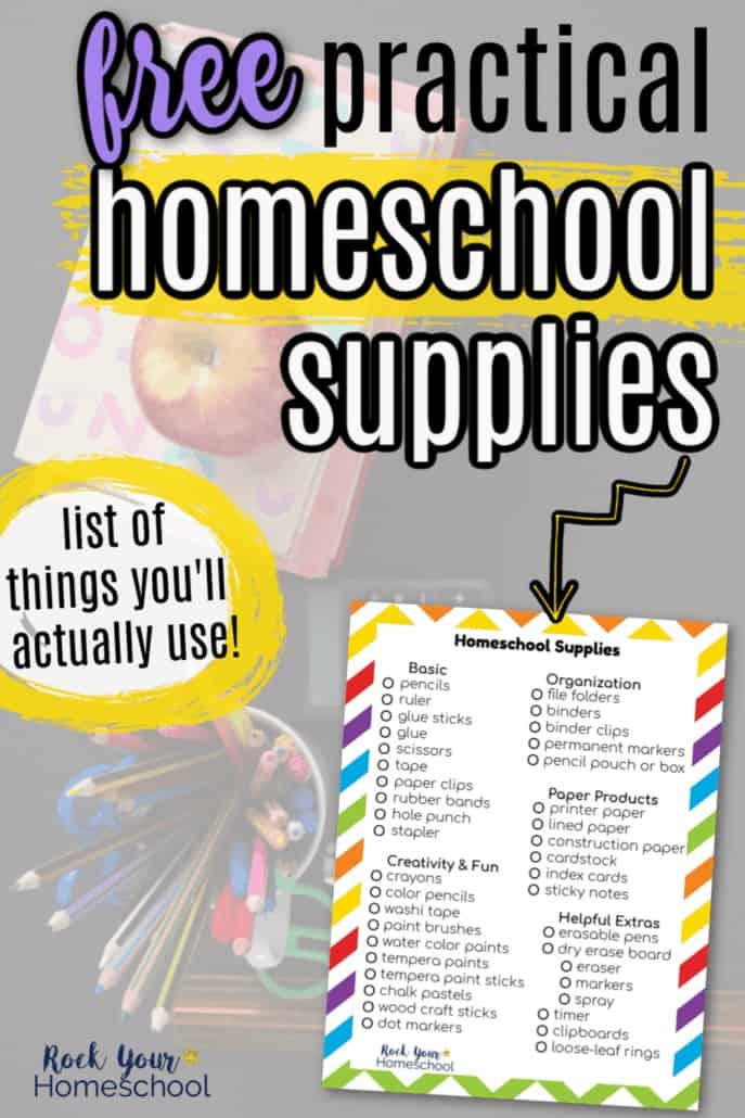 Affordable Homeschool Supplies List to Help You Make The Most of Your Day
