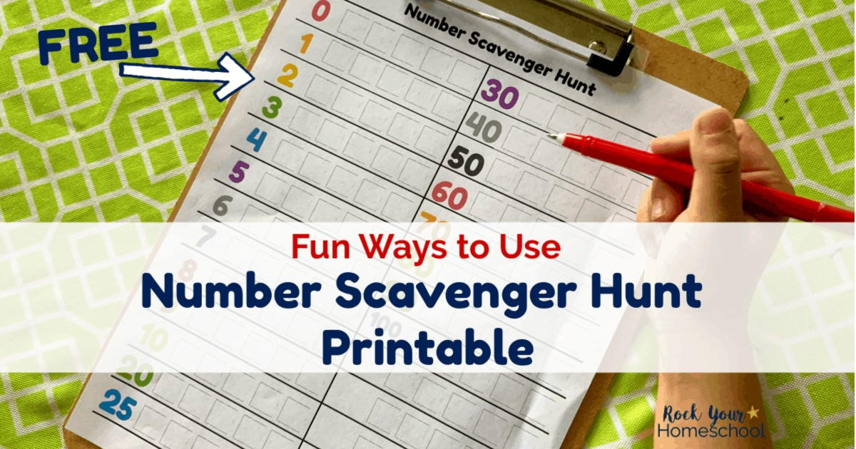 Check out all these creative & fun ways to use this free Number Scavenger Hunt printable.