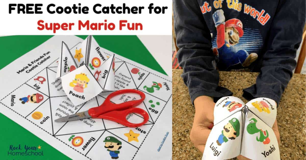 This free cootie catcher for kids is an awesome ways to enjoy Super Mario Fun!