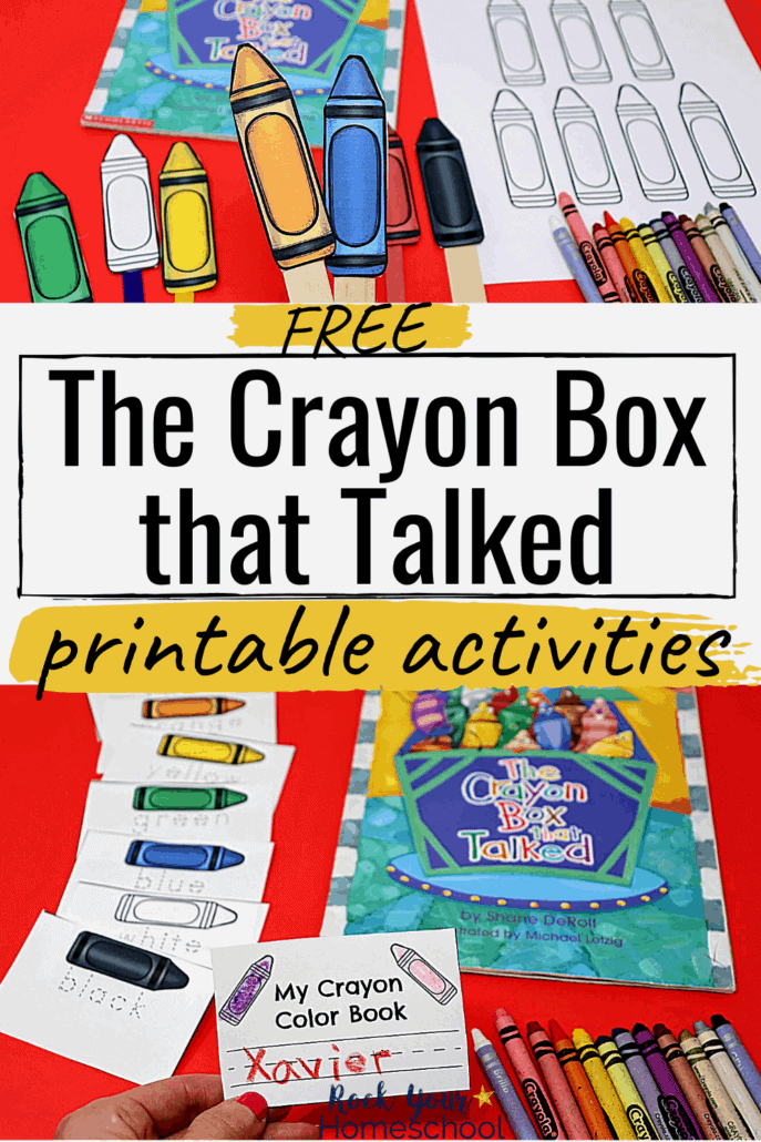 Free Printable Activities for The Crayon Box That Talked