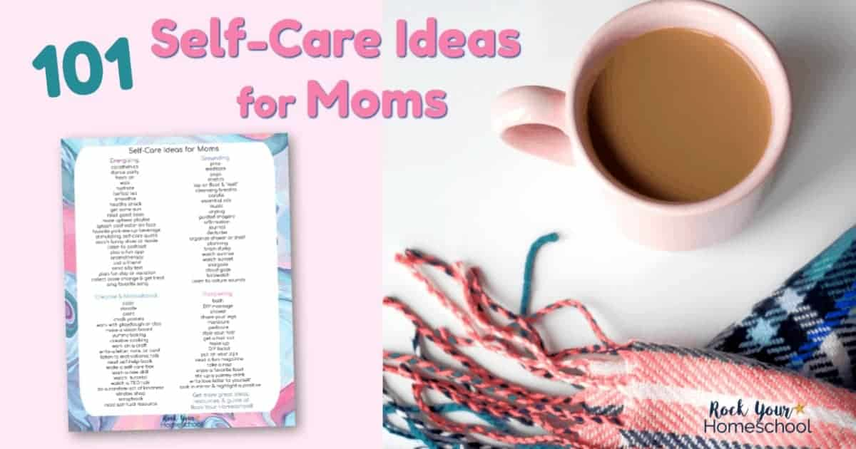 Discover awesome ways to enjoy self-care time with these 101 ideas & activities. Includes free printable list!