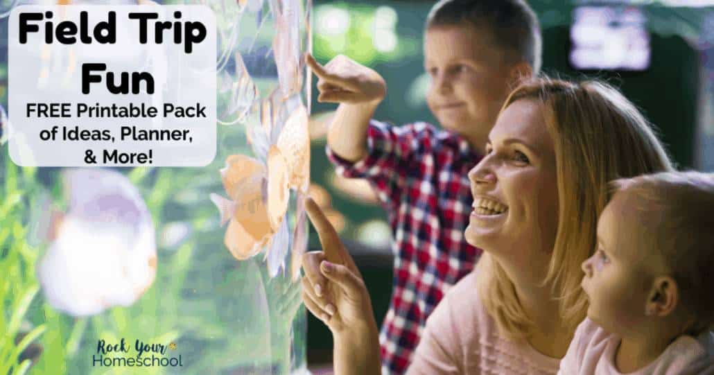 Enjoy some awesome Field Trip Fun with this free printable pack of ideas, planner, & more.