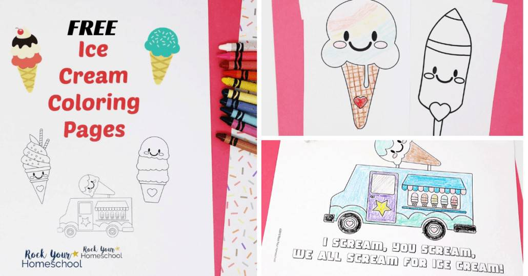 These free ice cream coloring pages are easy ways to give your kids easy summer fun activities.