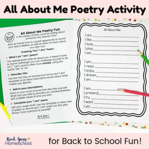 All About Poetry activity for back to school fun or any time of year!