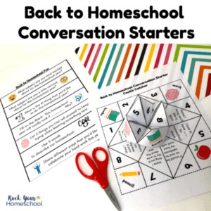 Get your kids excited & talking about the new year with these free printable Back to Homeschool Conversation Starters.