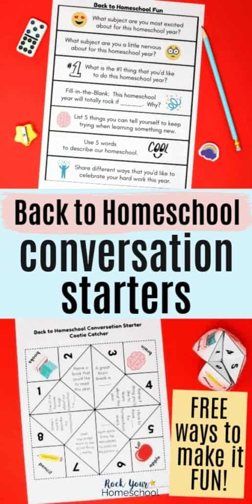 Free Back to Homeschool Conversation Starters to Easily Make It Fun